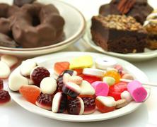 Sweets assortment Stock Photos