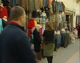 Clothing shop front In Nicosia, northern Cyprus Stock Footage