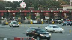 Toll booth 24p Stock Footage