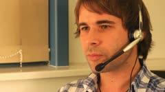 Customer care employee Stock Footage