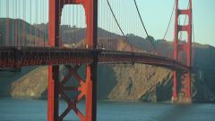 Golden Gate Bridge in San Francisco 24p pan across Stock Footage