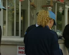 Turkish border crossing in Cyprus with UN border police Stock Footage