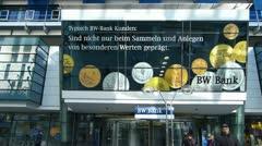 Multi Footage of Germany Stuttgart BW Bank at Königstrasse Kings road Stock Footage