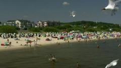 Summertime in Ahlbeck on Usedom Island - Baltic Sea, Germany Stock Footage