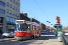 Toronto streetcar transportation Stock Photos