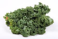 fresh leafy kale - stock photo