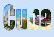 Stock Illustration of cuba with different tourist spots