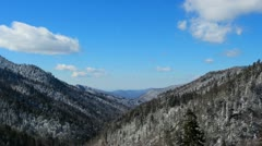 Smoky White Mountain Valley Winter 1 HD Stock Footage