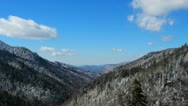 Smoky White Mountain Valley Winter 1 HD Stock Footage