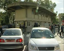Turkish Cypriot border crossing in Cyprus Stock Footage