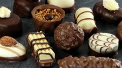 chocolates - stock footage
