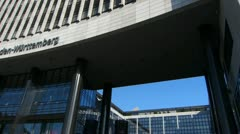 Germany Stuttgart Landesbank Baden-Württemberg LBBW Stock Footage