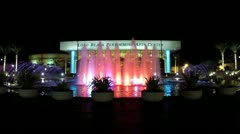 Long Beach Performing Arts Center Wide Angle- Night Stock Footage