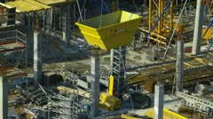 Germany Stuttgart construction site near Stuttgart 21 Stock Footage