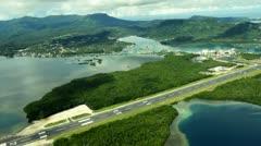 Pohnpei Aerial Footage Stock Footage