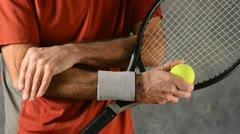 Tennis elbow 3 Stock Footage