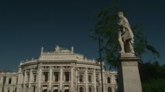 The Burgtheater is the Austrian National Theatre in Vienna Stock Footage
