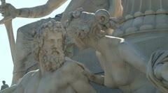Statue of Pallas Athena Parliament Building Vienna Wien Austria Stock Footage