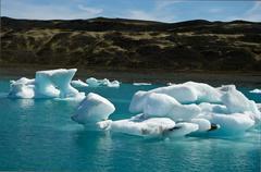 "Ice in Glacier Lagoon ""Jökulsarlon"" in Iceland - stock photo"