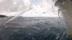 Riding in Boat 1st POV Stock Footage
