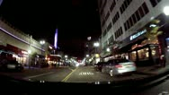 Stock Video Footage of POV Driving Shot Pine Avenue Downtown Long Beach- Night 2