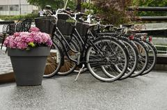 Stock Photo of Bicycles in Norway