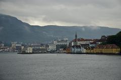 Norway - Bergen - Harbor Town - stock photo