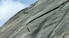 Yosemite 40 Timelapse Rock Climbers Tenaya Lake area - stock footage