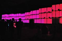Party, concert, pink lights - stock photo