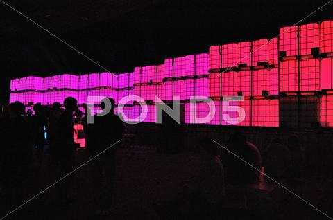 Stock photo of Party, concert, pink lights