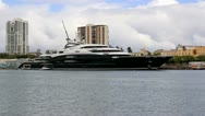 Stock Video Footage of mega yacht super yacht luxury ship Serene - 300 million in San Juan