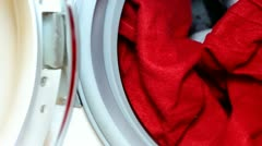 Santa Claus and the washing machine. Stock Footage