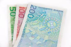 norwegian money - stock photo