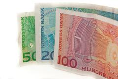 norwegian kroner - stock photo