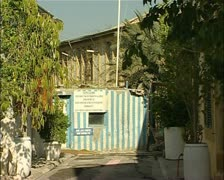 Greek Cypriot checkpoint in Nicosia, Cyprus Stock Footage