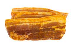 slices of pork - stock photo