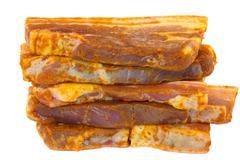 Slices of pork3 Stock Photos