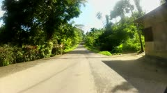 Driving around the island of Pohnpei on Jungle road Stock Footage