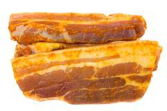 slices of pork4 - stock photo