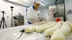 Manufacturing gnocchi Stock Footage