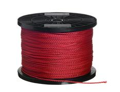 red cord on black coil - stock photo