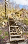 stairway in nature - stock photo