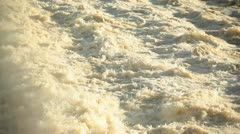 Rough river water - stock footage