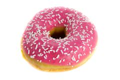 Strawberry donut Stock Photos