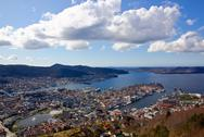 Stock Photo of view over bergen