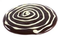 white chocolate rings - stock photo