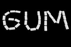 write gum with gum - stock illustration