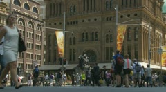 Timelapse crowds in Sydney (1) Stock Footage