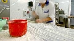 Sliding gnocchi Stock Footage