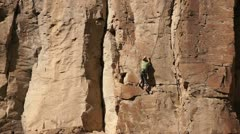 130217 rock climb ascent Stock Footage